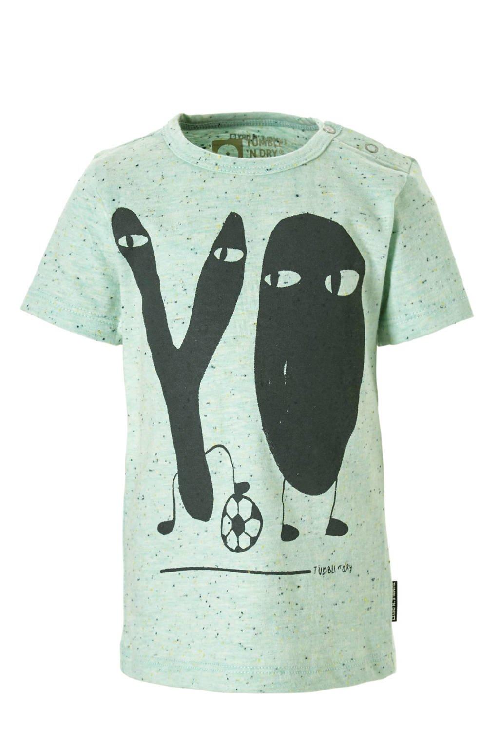 Tumble 'n Dry Lo T-shirt Agner met printopdruk mint, Mintgroen
