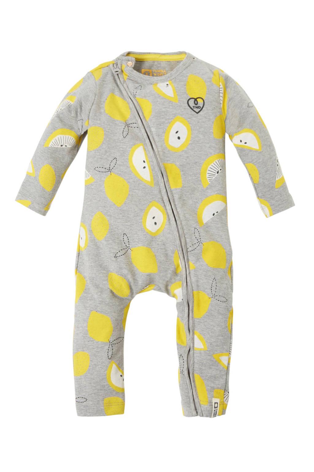 Tumble 'n Dry Lo baby boxpak Emilie met citroenen grijs, Grijs melange/geel