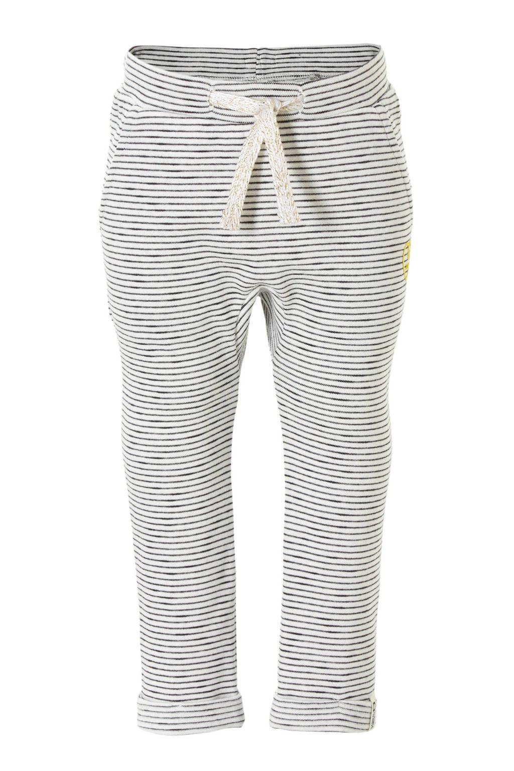 Tumble 'n Dry Lo broek Elnora met strepen, wit/ grijs
