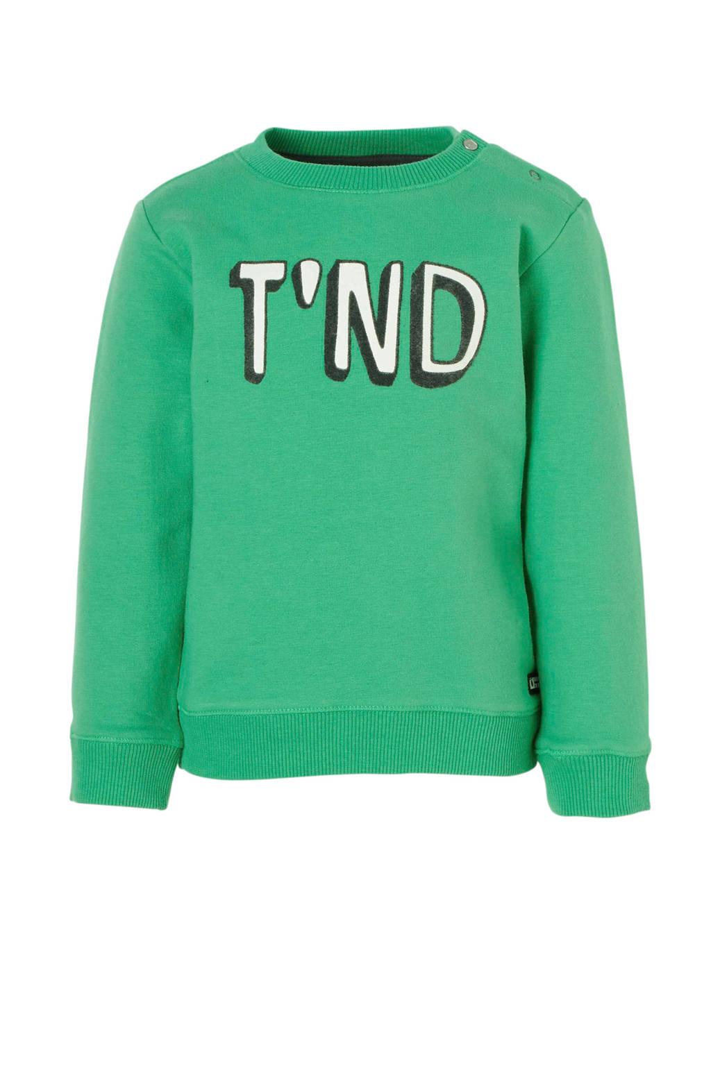 Tumble 'n Dry Lo sweater Azad met logo groen, Groen