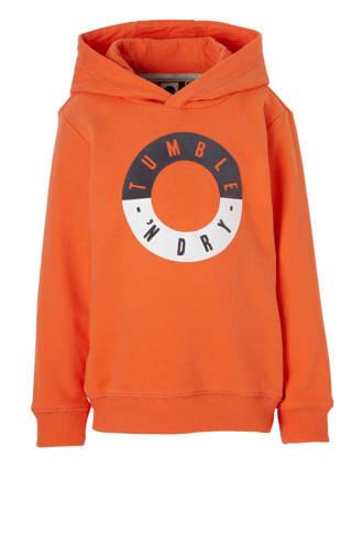 Mid hoodie Fabrice met logo oranje