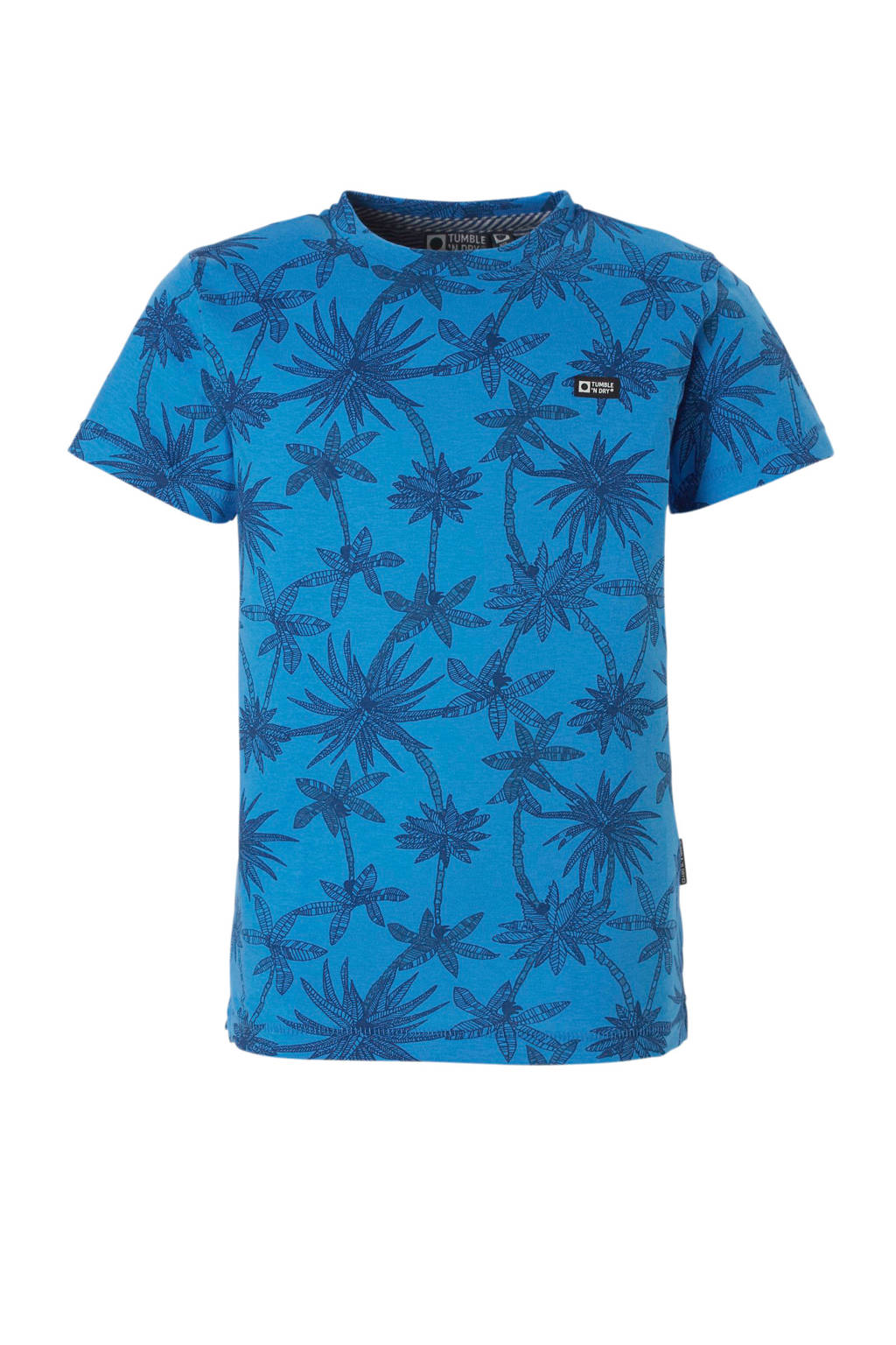 Tumble 'n Dry Mid T-shirt Dazin allover print blauw, Campanula