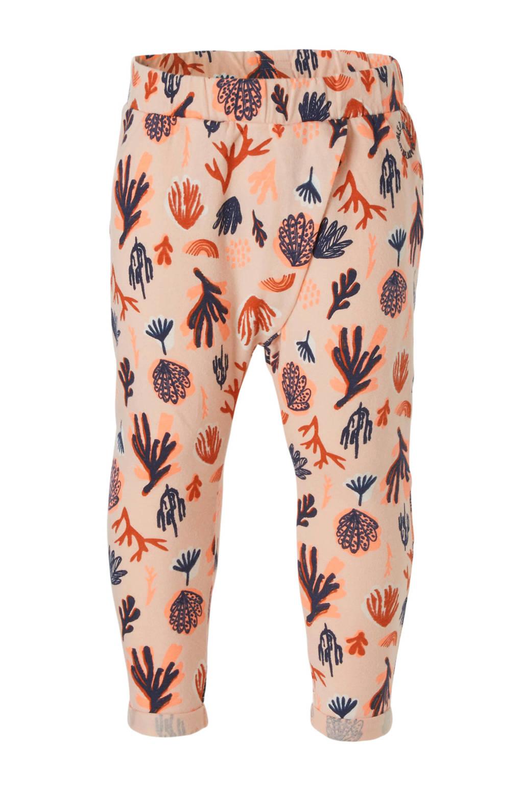 Tumble 'n Dry Lo broek Ernie met allover print perzikkleur, Perzikkleur