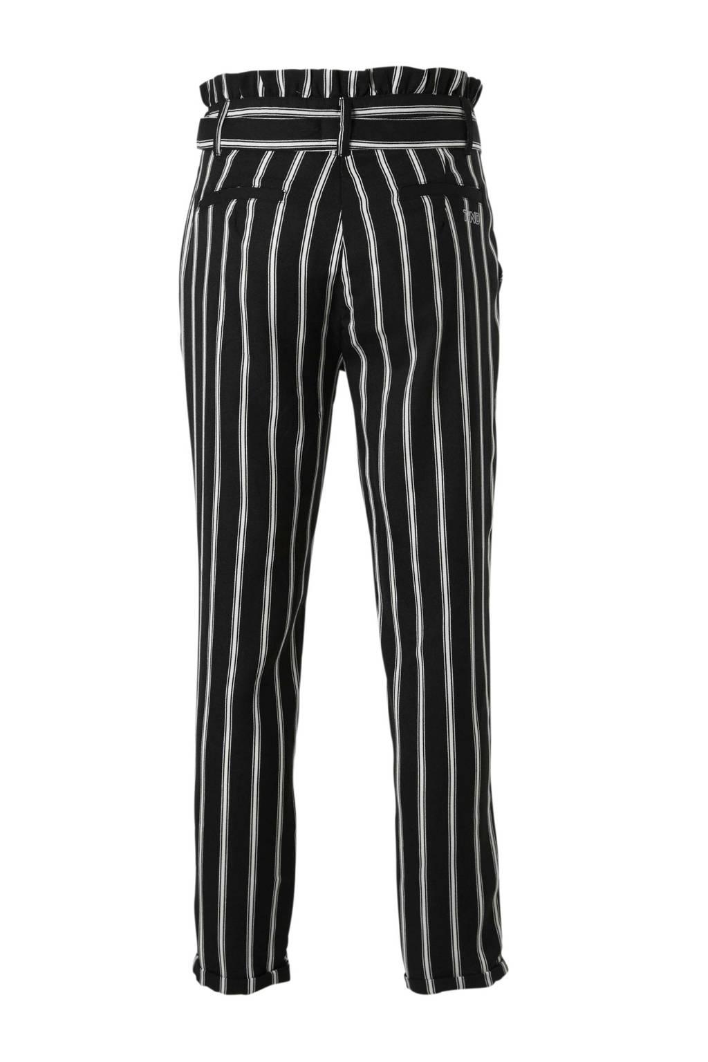 Tumble 'n Dry Hi gestreepte tapered fit broek Boan zwart, Zwart/wit