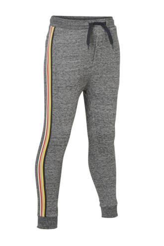 Mid   sweatpants met contrastbies grijs