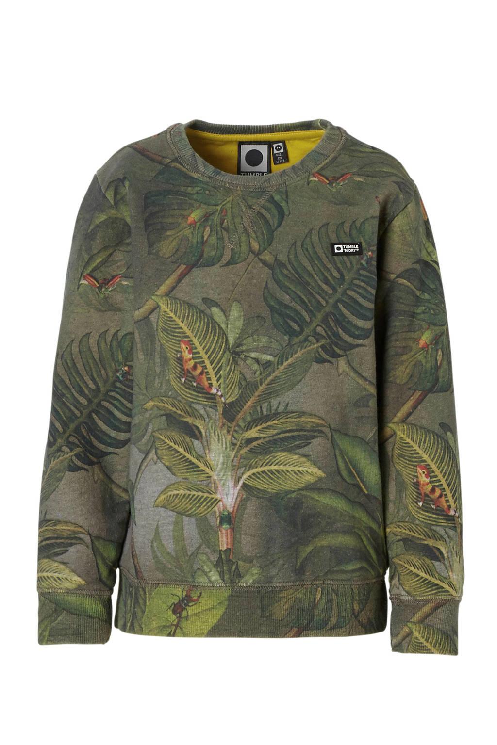 Tumble 'n Dry Mid sweater met allover print groen, Groen