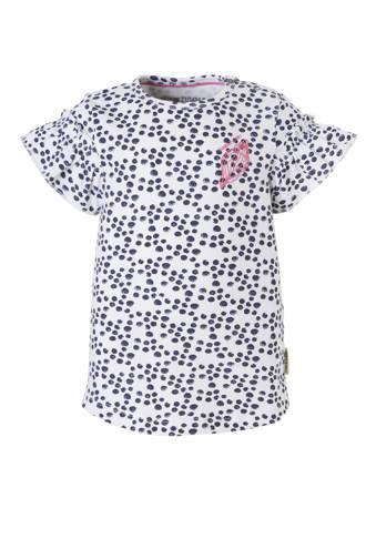 Lo T-shirt Emmalijn met stippen wit