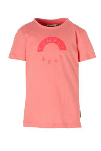 Mid T-shirt Balbine met logo roze