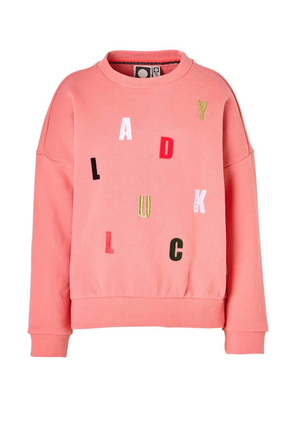 Tumble 'n Dry Mid sweater Chimar met letters roze, Roze