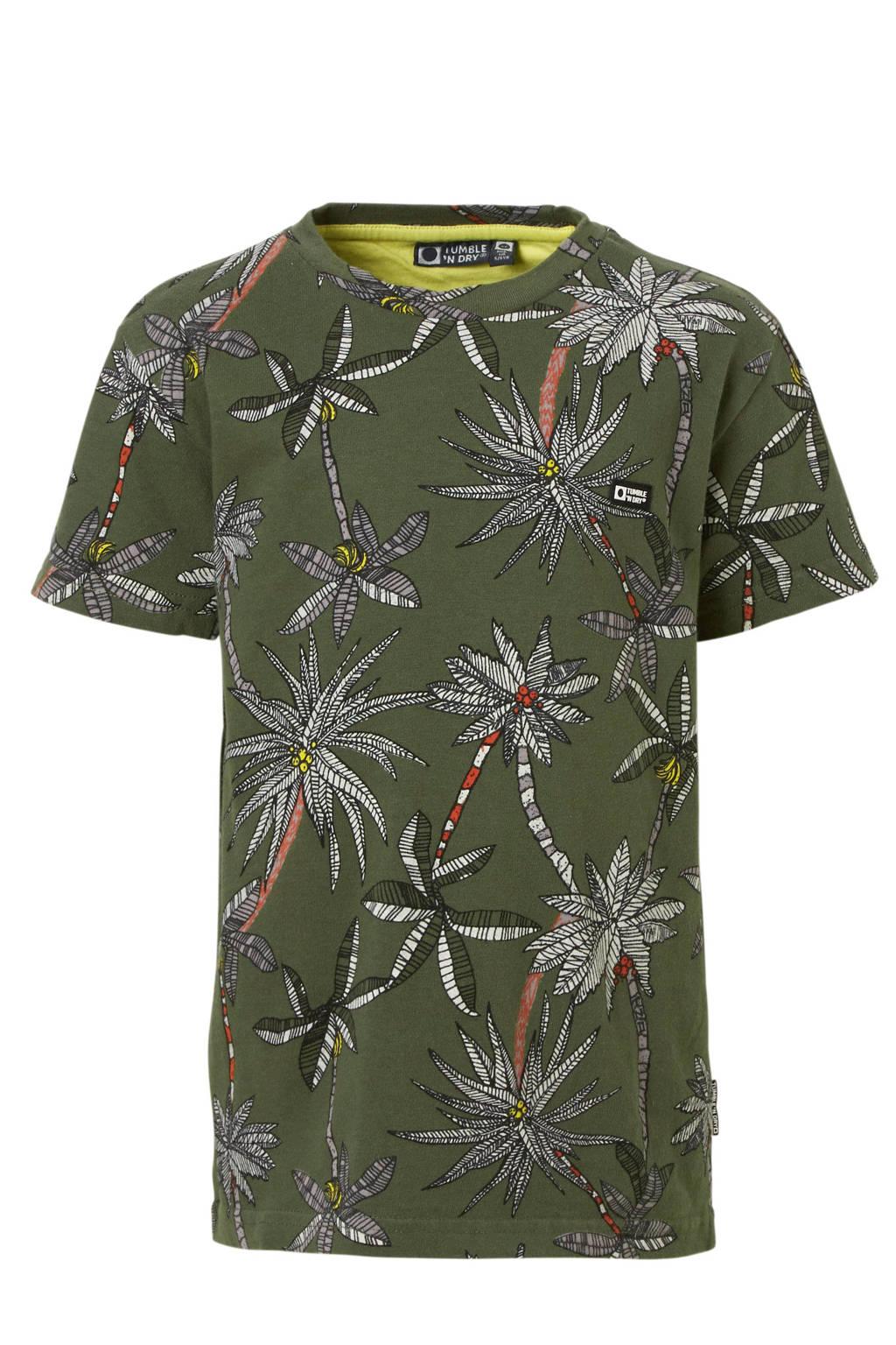 1ff1235e455 Tumble 'n Dry Mid T-shirt Denzerios met bladprint groen | wehkamp
