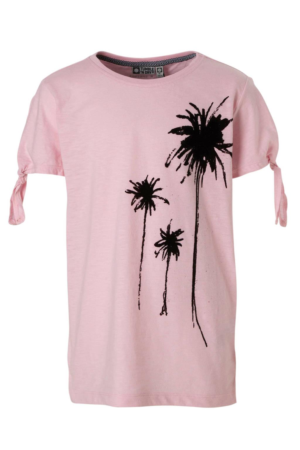 Tumble 'n Dry Hi T-shirt met printopdruk roze, Roze/zwart