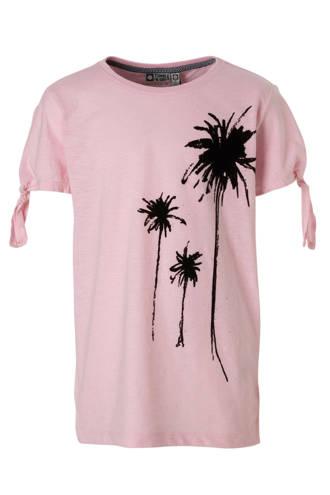 Hi T-shirt met printopdruk roze