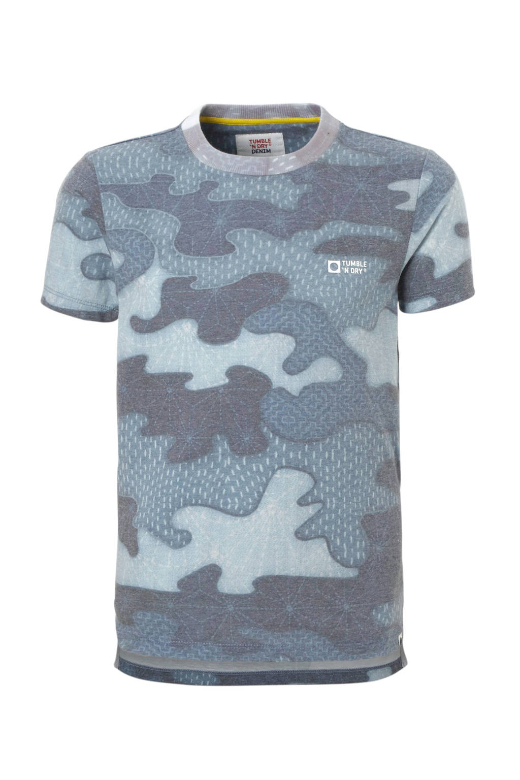Tumble 'n Dry Lo T-shirt met camouflageprint, Blauw