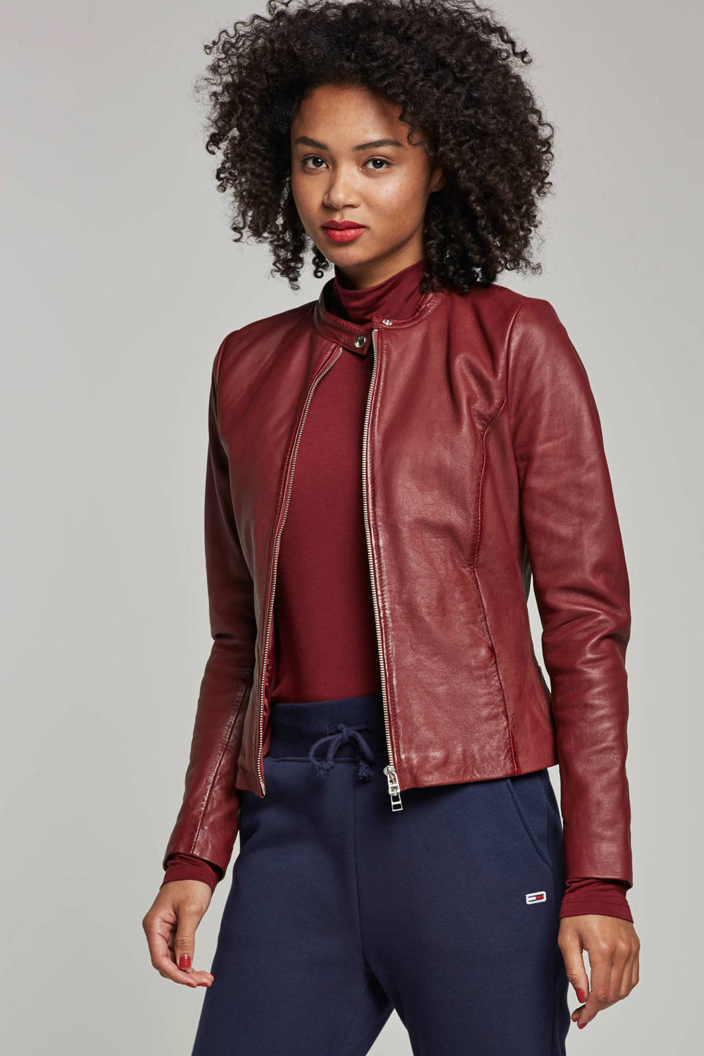 Goosecraft schaapsleren jasje rood, Rood