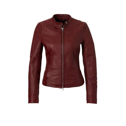 Goosecraft schaapsleren jasje rood