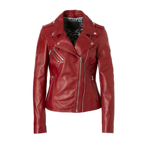Goosecraft leren jas rood