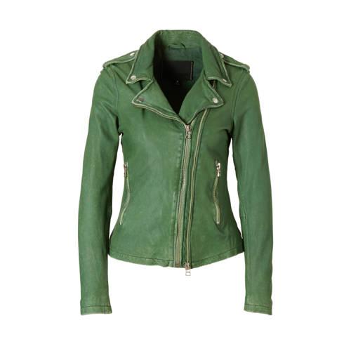 Goosecraft leren jas groen