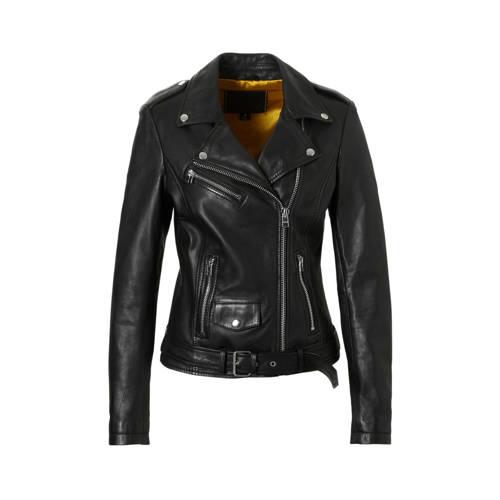 Goosecraft leren jas zwart