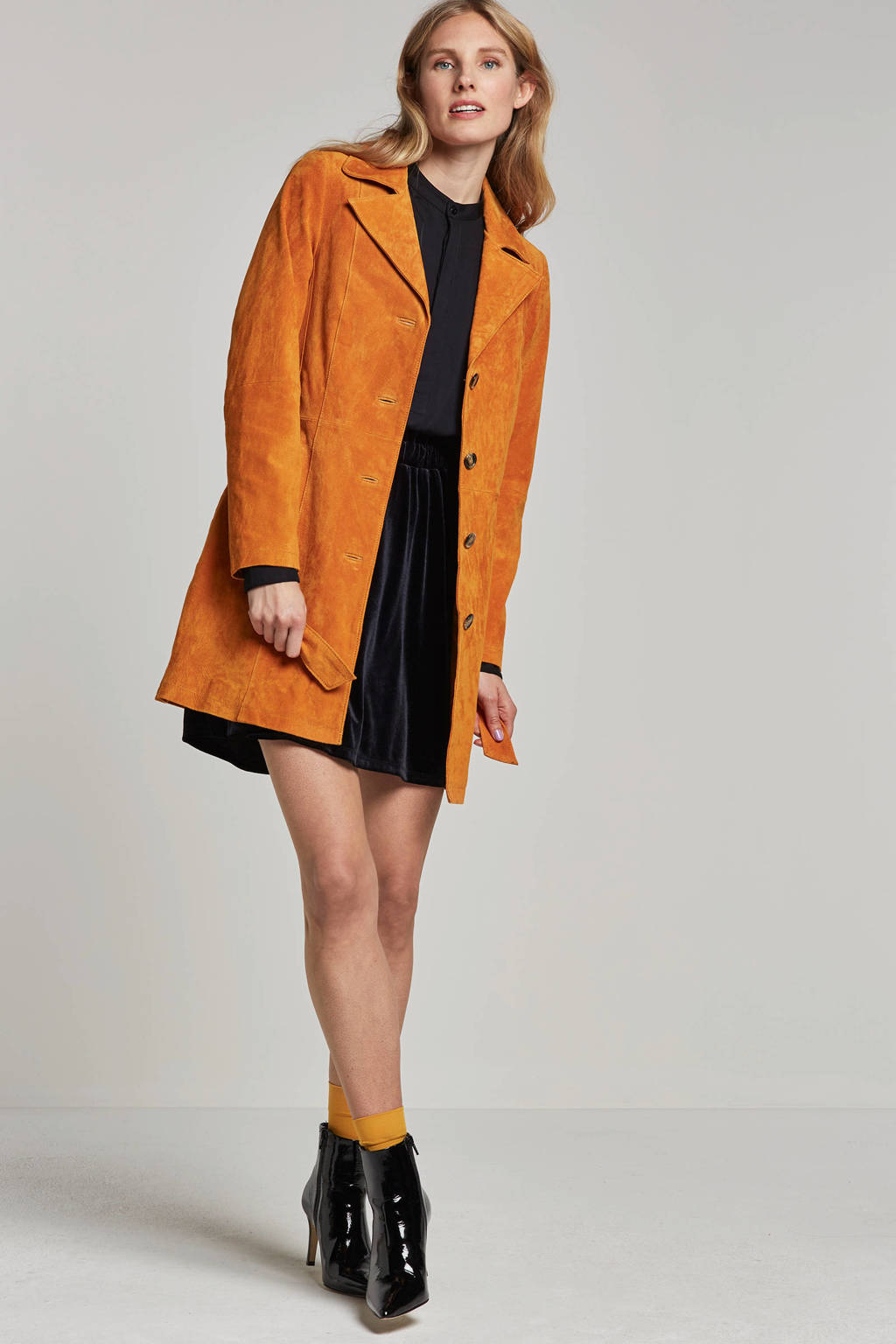 Goosecraft suède jas, Oranje
