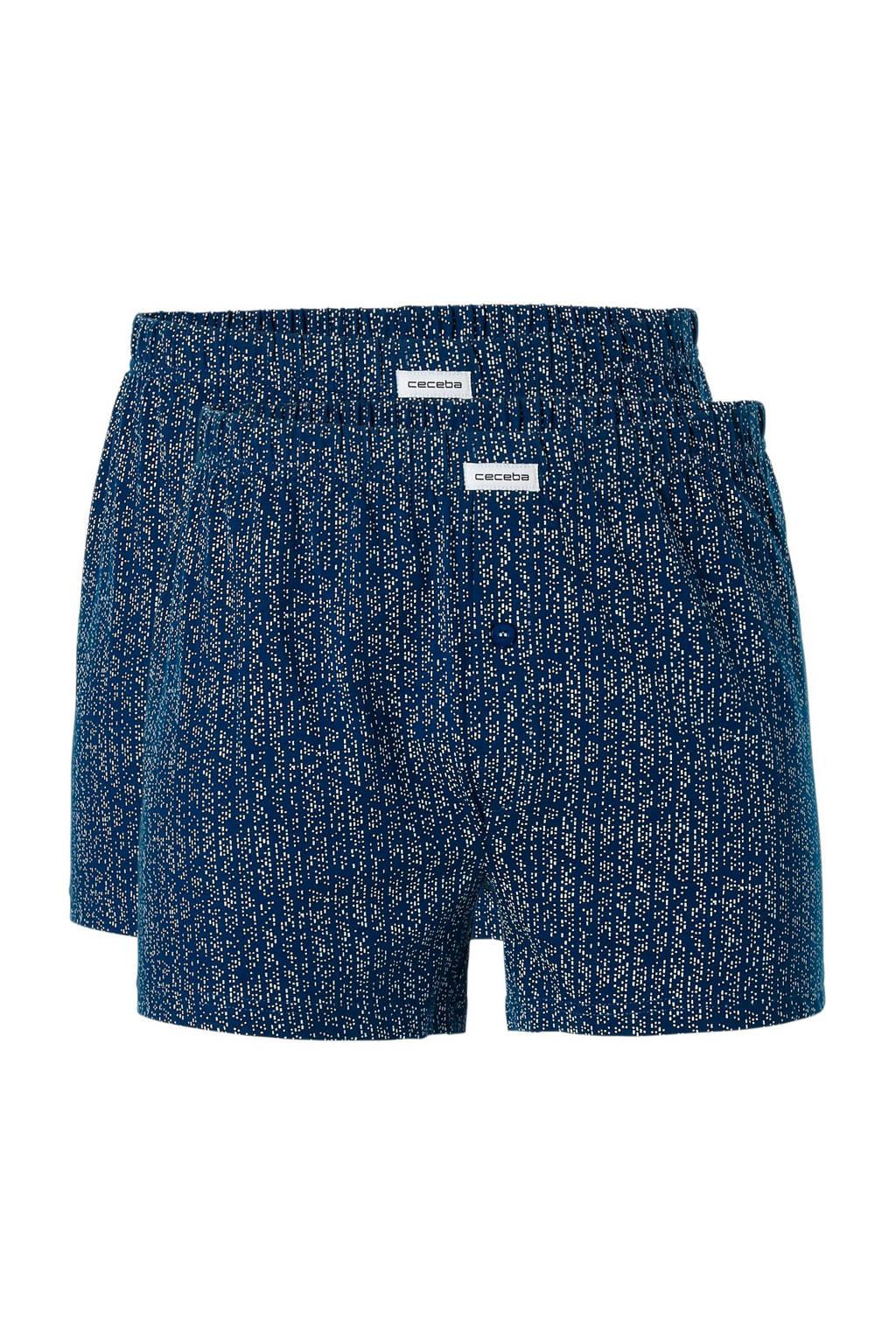 Ceceba boxershort (set van 2), Blauw