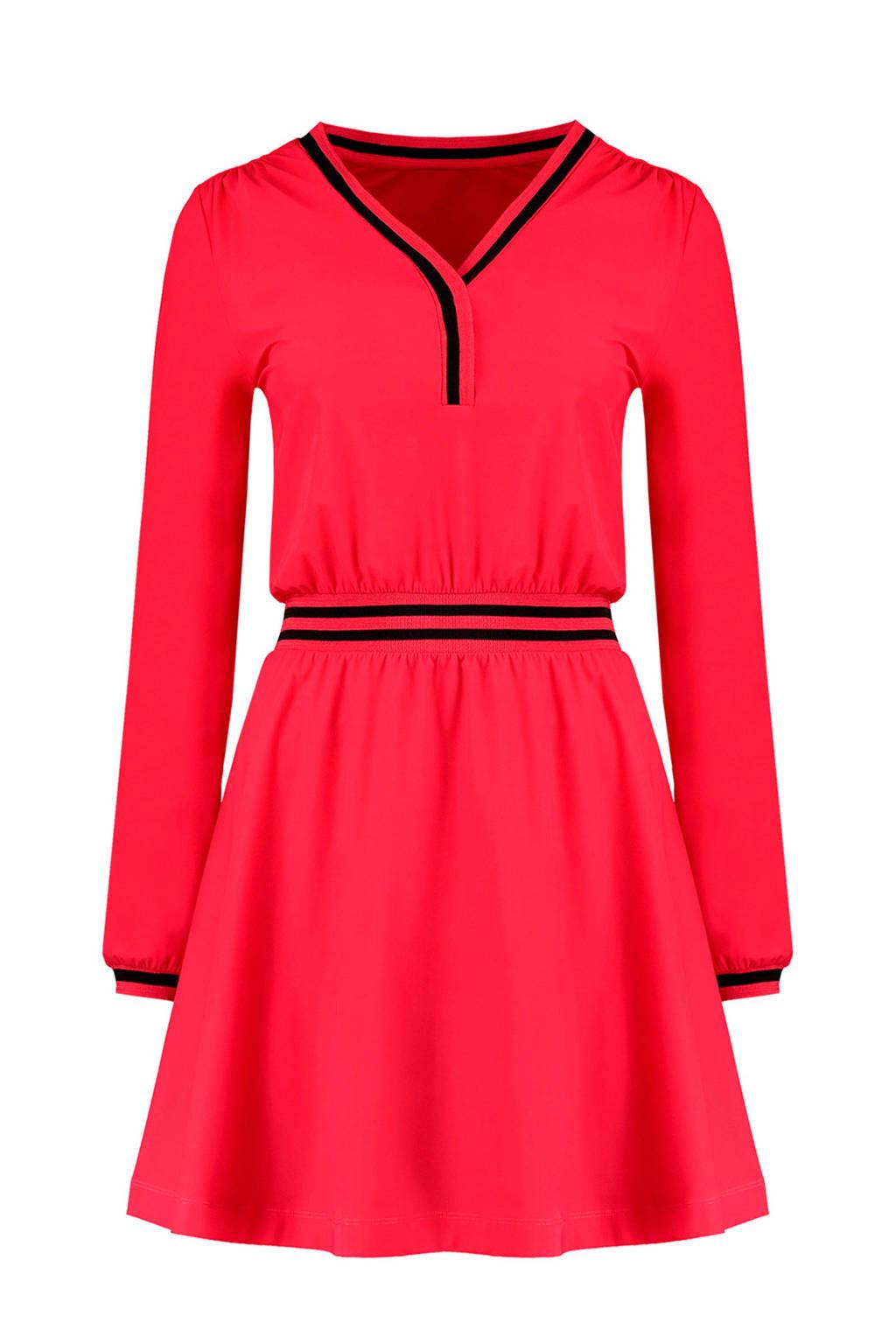 NIKKIE Suzy jurk, rood/ zwart