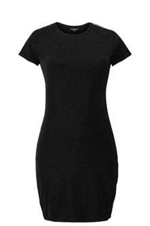 jurk met glitters zwart