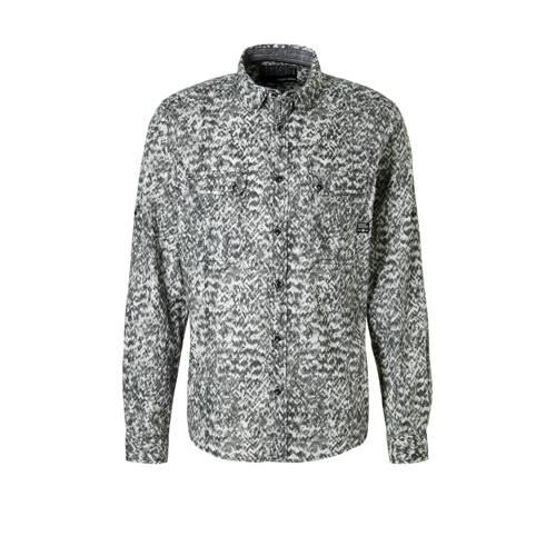 C&A Angelo Litrico overhemd met print grijs