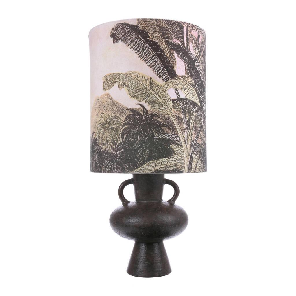HKliving tafellamp, Ecru/groen/bruin