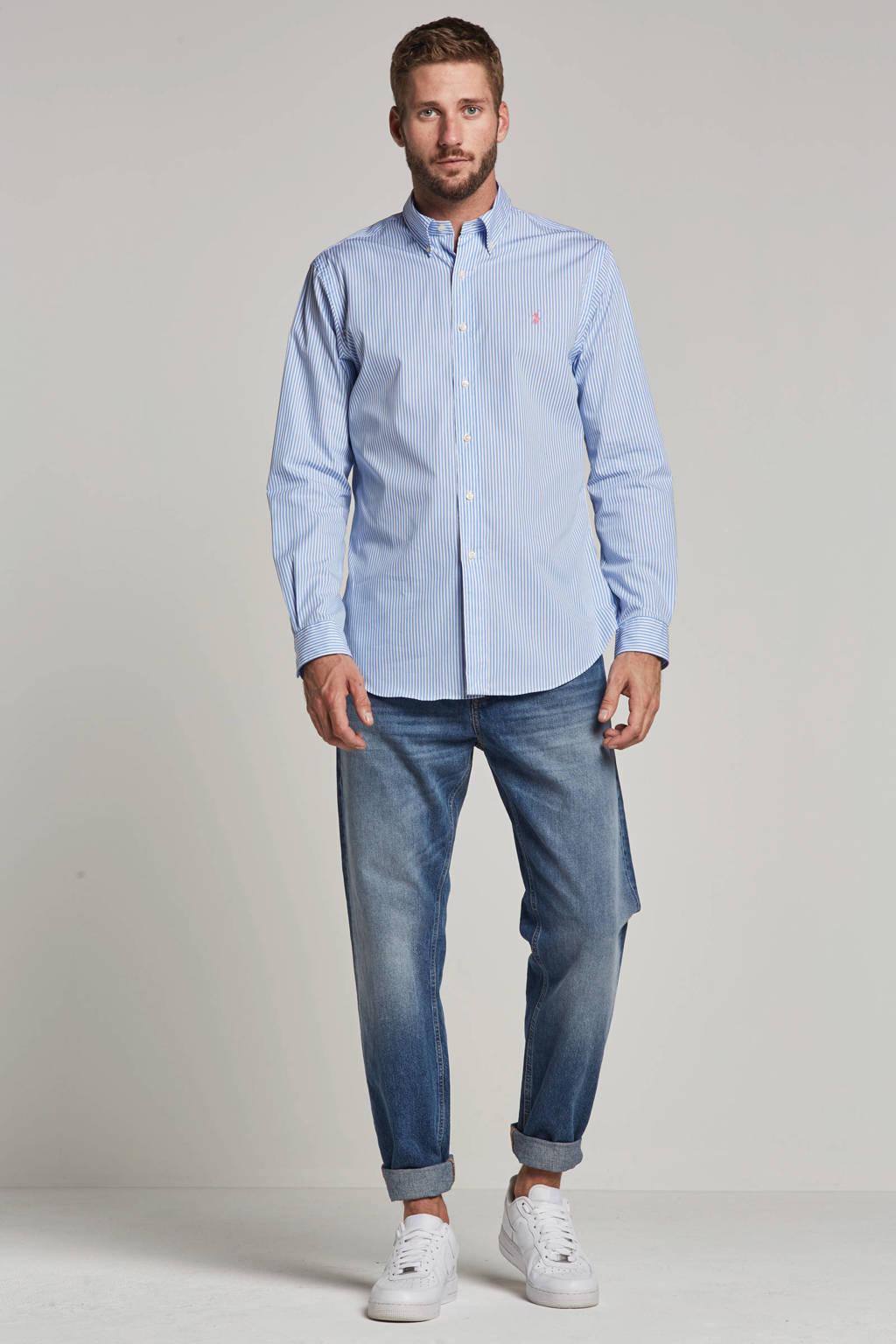 POLO Ralph Lauren slim fit overhemd, Blauw/wit