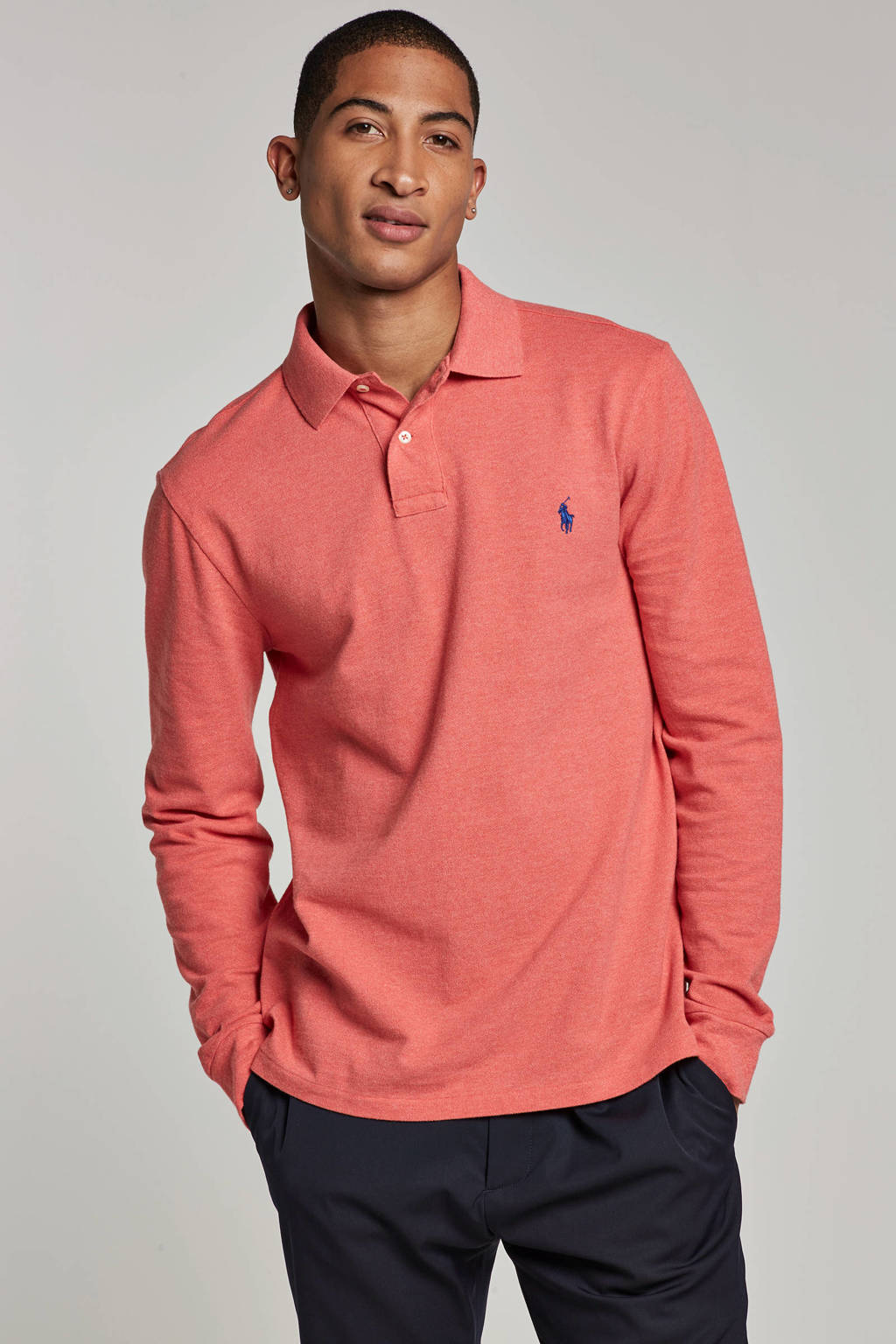POLO Ralph Lauren slim fit polo, Zalm