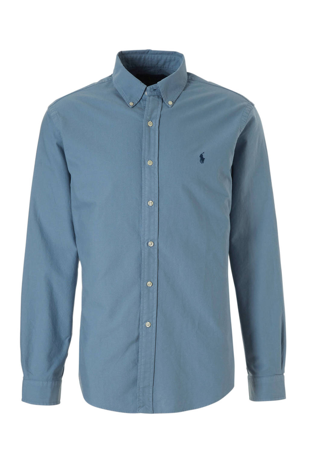 POLO Ralph Lauren slim fit overhemd, Blauw