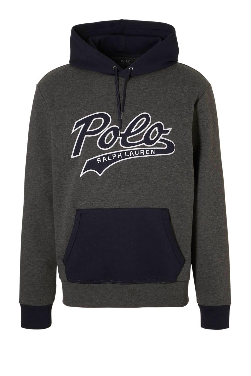 POLO Ralph Lauren gemêleerde hoodie grijs, Grijs/marine