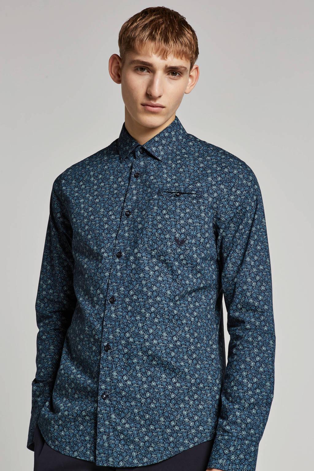 PME Legend regular fit overhemd, Blauw