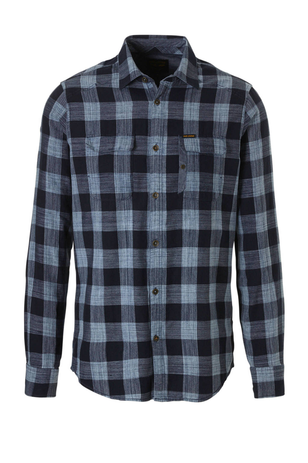 PME Legend overhemd, Grijs/blauw