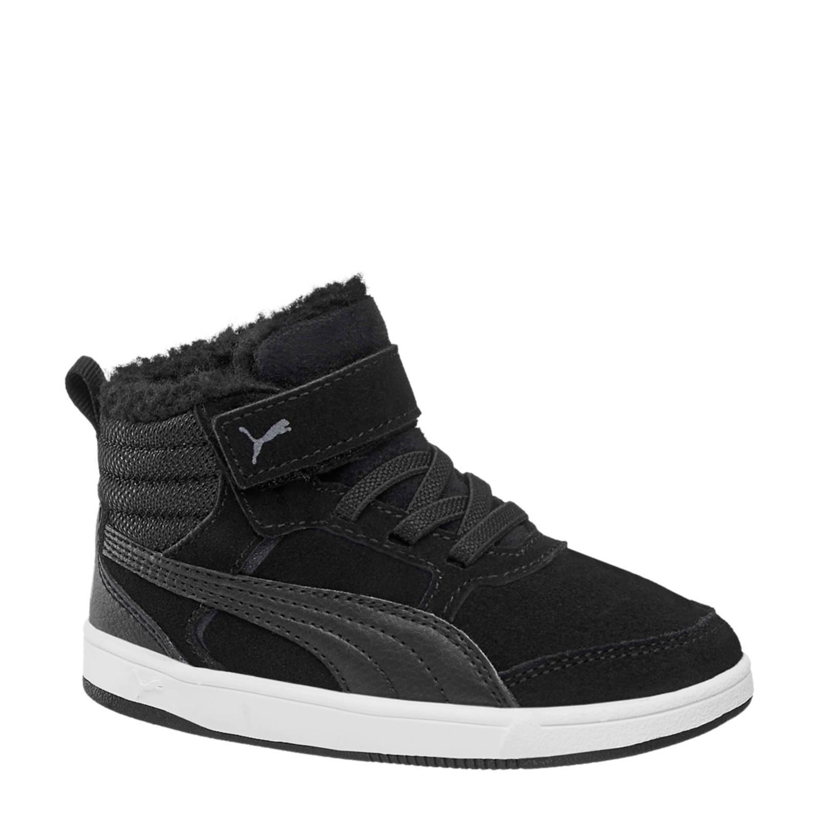 Puma Rebound Street V2 suède sneakers zwart jongens