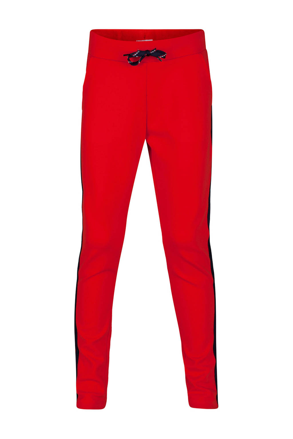 WE Fashion sweatpants met zijstreep rood, Rood