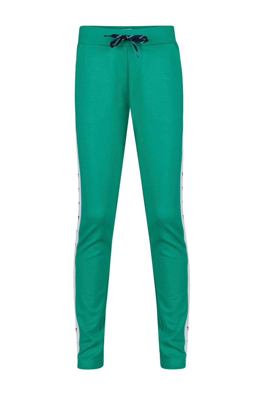 WE Fashion sweatpants met sterren groen, Groen
