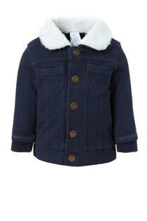 C&A Baby Club denim vest met teddy kraag donkerblauw (jongens)