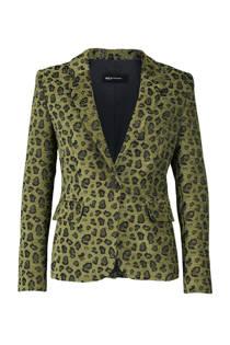 Expresso blazer met panterprint groen (dames)