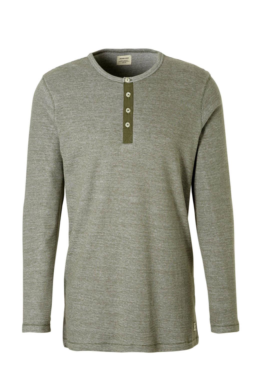 Jack & Jones Essentials t-shirt lange mouw, Groen