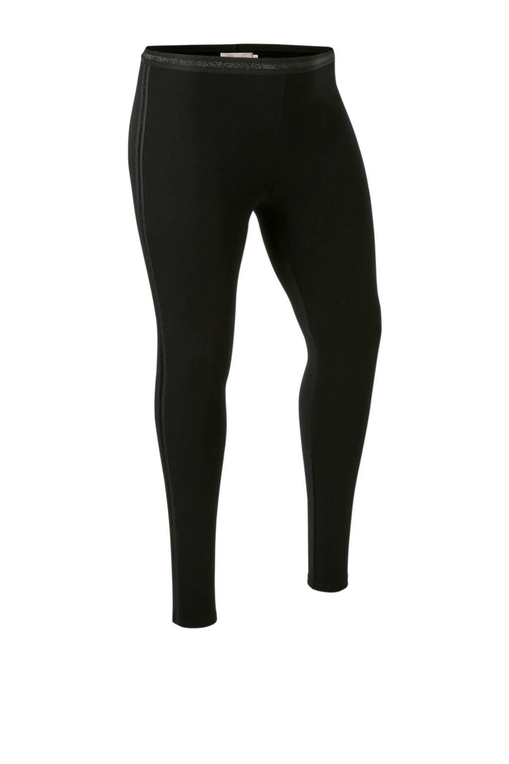 whkmp's great looks legging met bies met lurex streep, Zwart