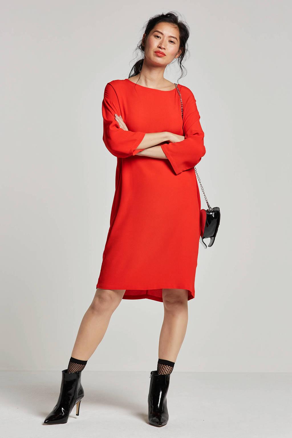 Modström Geo jurk, Rood