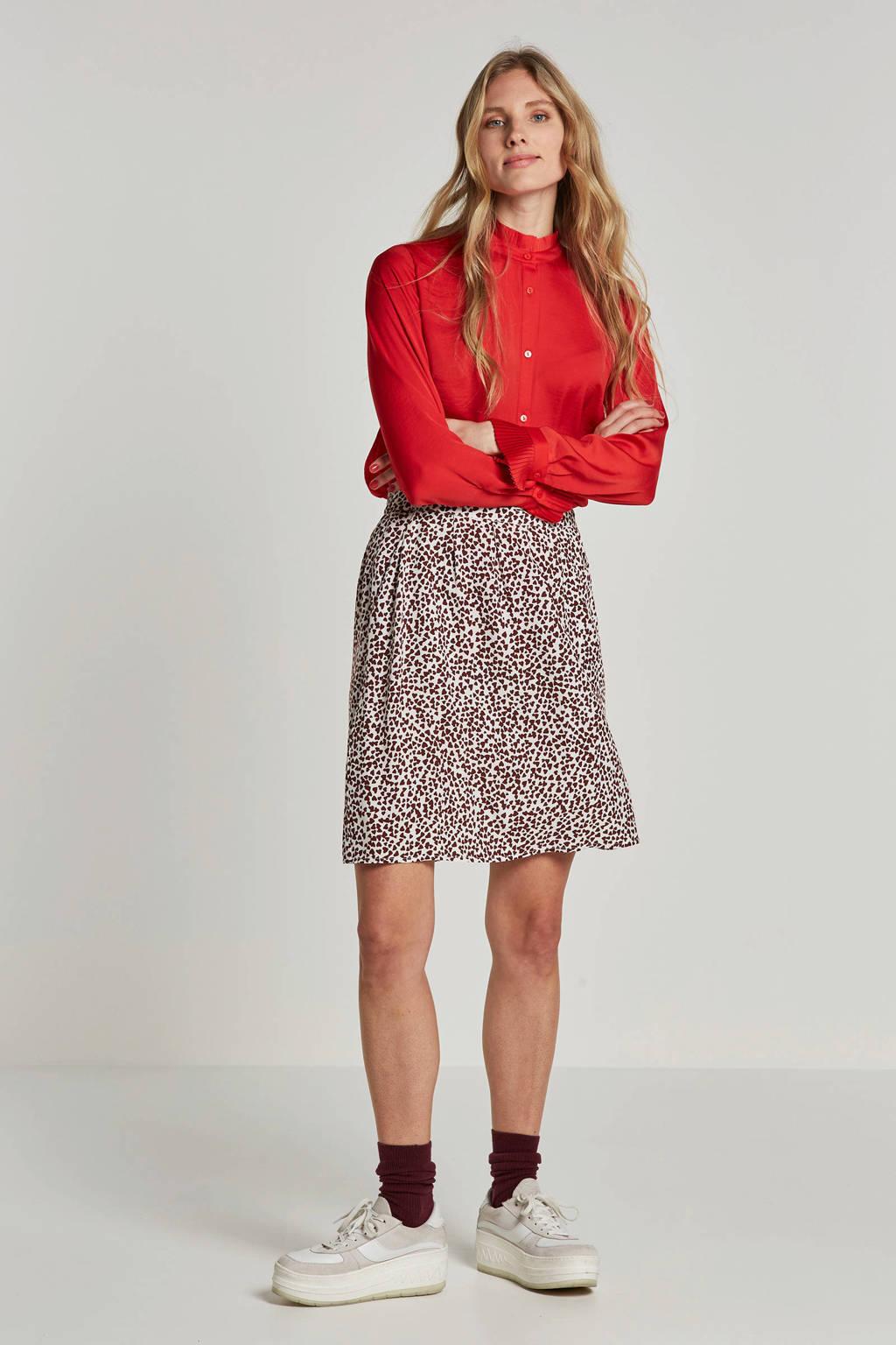 Modström blouse met volantdetails, Rood