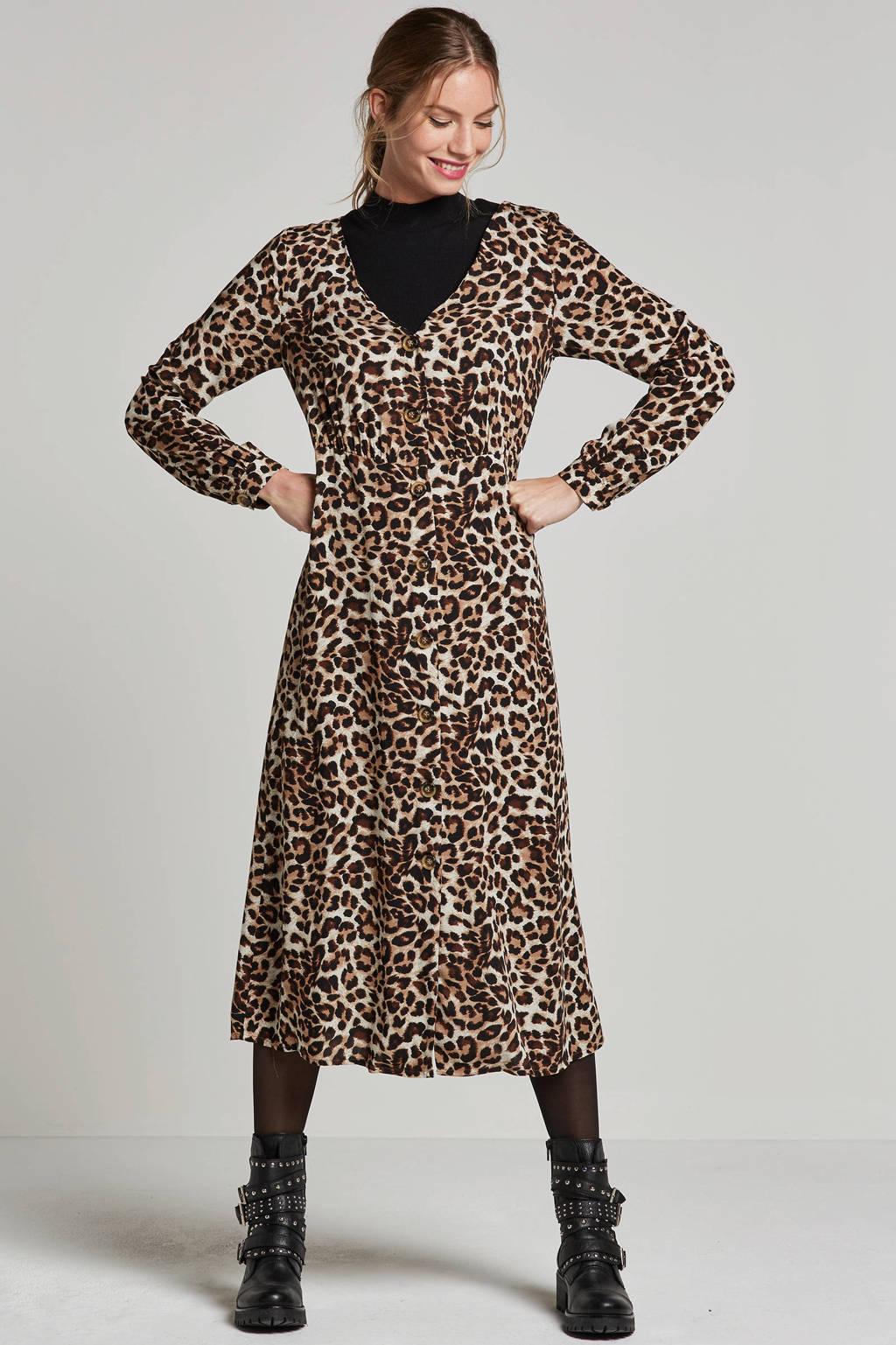 nieuwe lijst voor het hele gezin best aardig VILA blouse jurk met panterprint | wehkamp