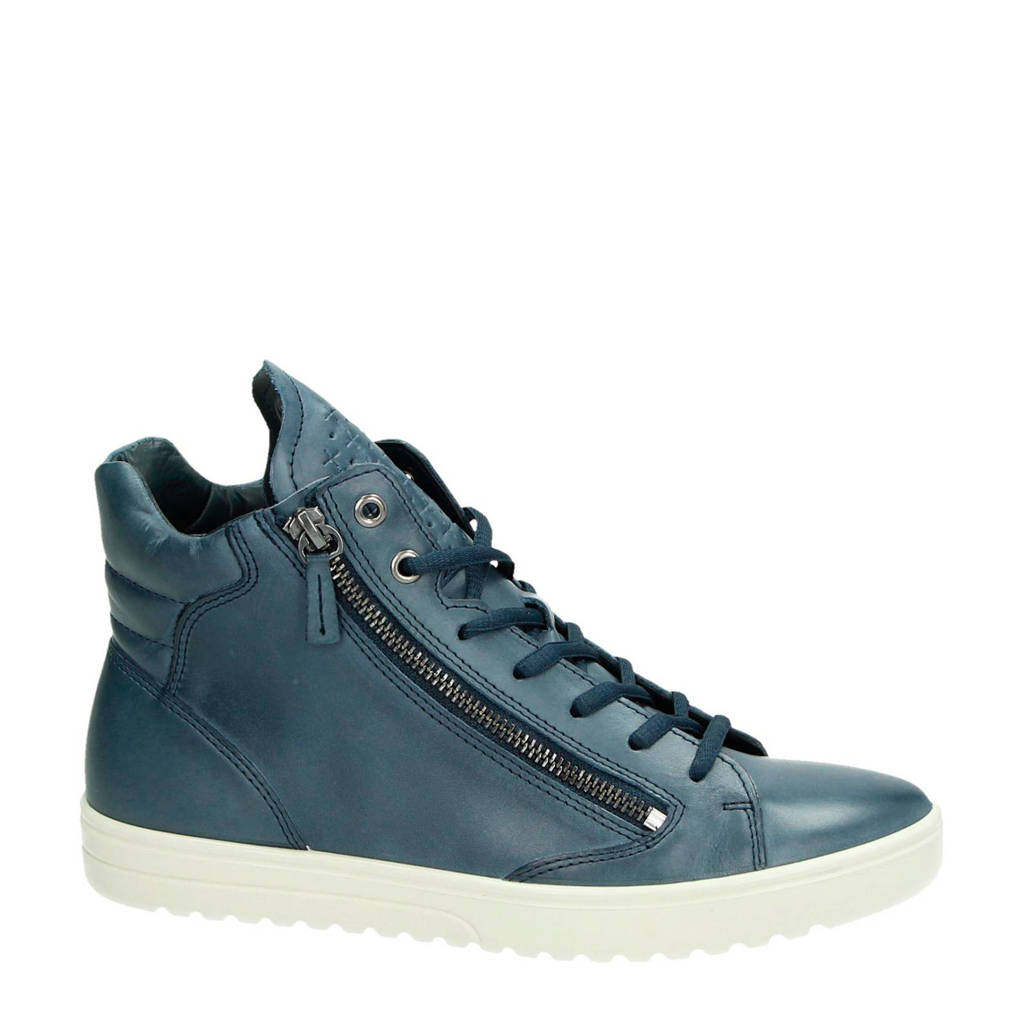 Ecco  leren sneakers blauw, Blauw