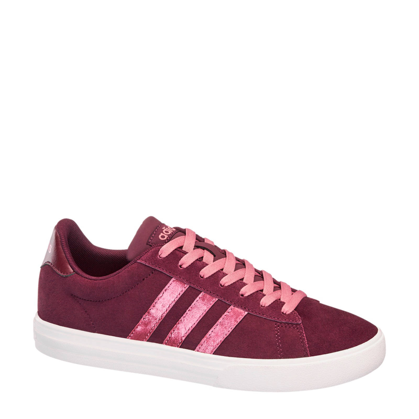 adidas Daily 2.0 suède sneakers donkerrood (dames)