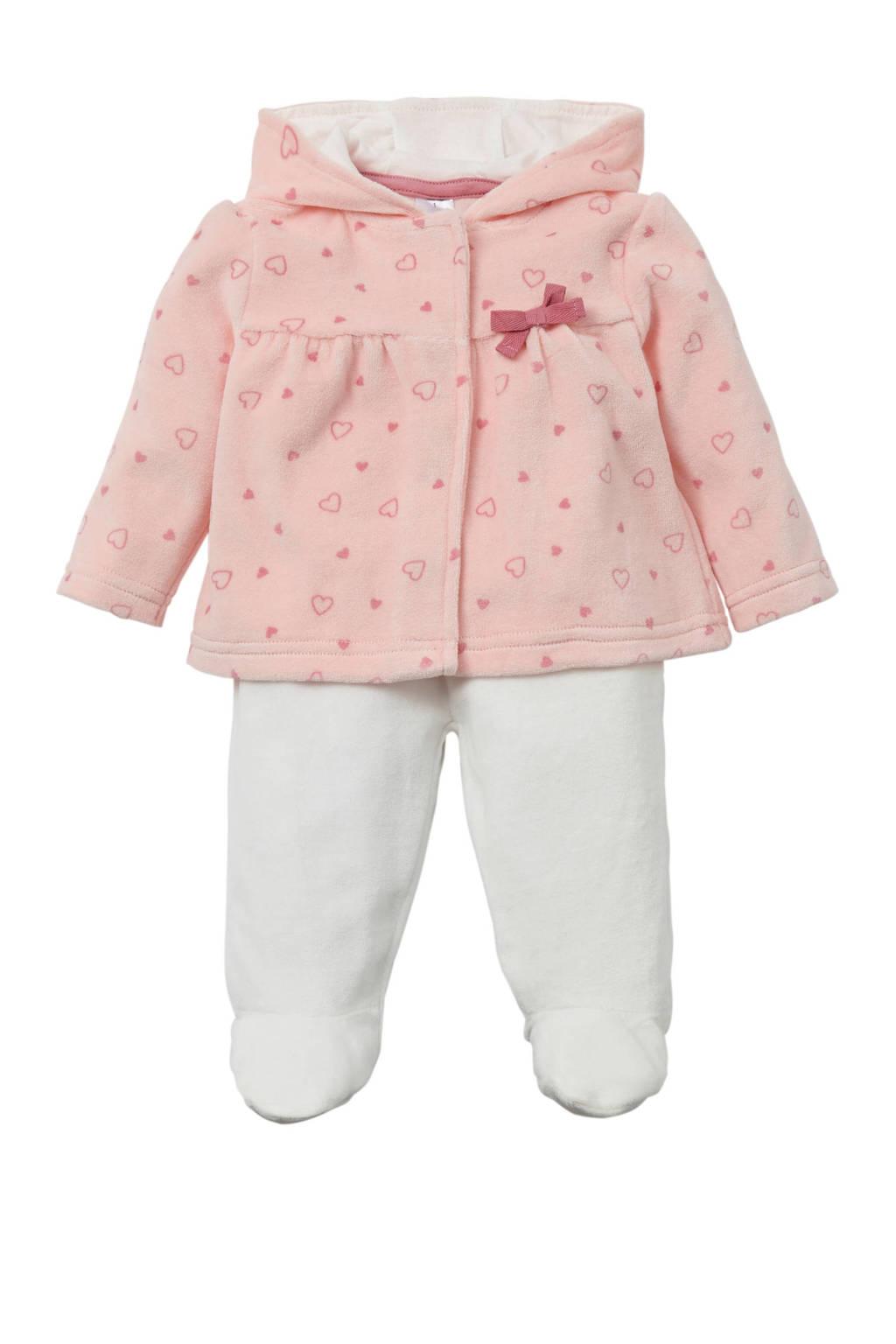 C&A Baby Club vest + broek, Roze/wit