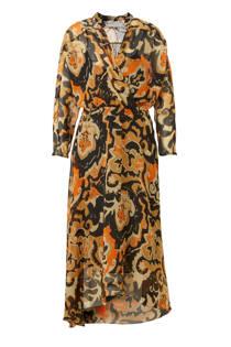 Mango jurk met all over print bruin