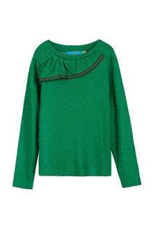 trui met glitters Zarola groen
