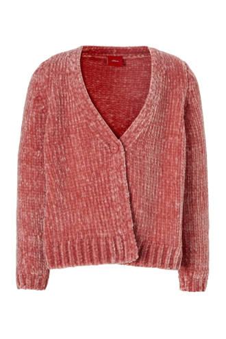 chenille vest roze